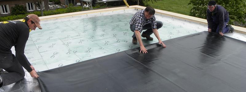 epdm zelfbouw dakbedekking voor platte daken zelfbouwdak. Black Bedroom Furniture Sets. Home Design Ideas